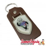 Key ring chain - Lambretta Service Agent No. 2 (Brown)