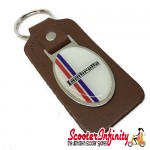 Key ring chain - Lambretta British Stripes (Brown)
