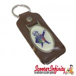 Key ring chain - Lambretta Service Agent No. 1 (Brown)