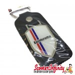 Key ring chain - Lambretta British Stripes (Black, Shield)
