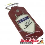 Key ring chain - LML Star (Shield, Red)