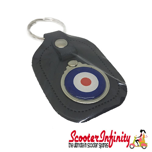 Key ring chain - Mod Target (Black Leather)