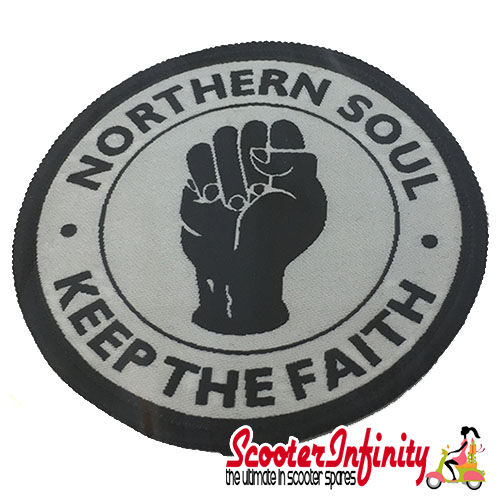 "Patch Clothing Sew On - Northern Soul ""Keep the Faith"" (75mm, 75mm)"