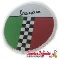 Patch Clothing Sew On - Vespa Italian Flag Check (80mm, 80mm)