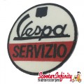 Patch Clothing Sew On - Vespa Servizio (No. 1) (75mm, 75mm)