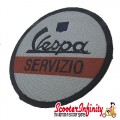 Patch Clothing Sew On - Vespa Servizio (No. 2) (80mm, 80mm)