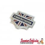 Pin Badge - Lambretta British Union Jack Shield