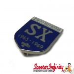 Pin Badge - Lambretta SX 1965 - 1969 Innocenti (Blue Shield)