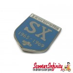 Pin Badge - Lambretta SX 1965 - 1969 Innocenti (Light Blue Shield)