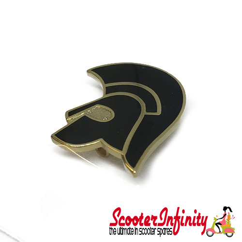 Pin Badge - Trojan Emblem (Black, Gold)
