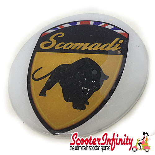 Badge Sticker Domed - Scomadi (75mm, 75mm)