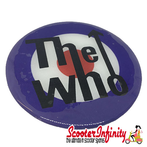 Badge Sticker Domed - Mod Who Target (75mm, 75mm)