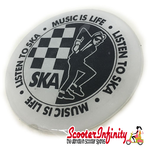 Badge Sticker Domed - Ska (75mm, 75mm)