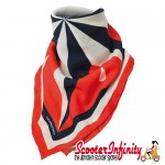 Neck Scarf / Bandana TUCANO URBANO (Orange Blue White) (Scooter / Vespa / Lambretta)