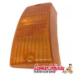 Indicator Lens Front, Left PIAGGIO (Amber) (Vespa PX80-200/PE/Lusso/T5)