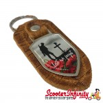 "Key ring chain - Poppy Soldier Remembrance Day ""Lest We Forget"" (Retro)"