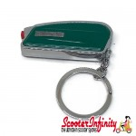 Key ring chain - Lambretta (Green, Sidepanel 55x30x20mm)