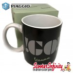 Mug / Cup - GO Vespa (Black, with Emblem)