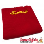 Neck Scarf Scarves Neck Warmer Face Mask SCOMADI (Red, Yellow Logo)