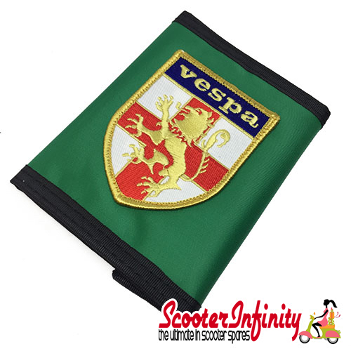 Wallet Vespa England (Green, black trim)