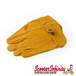 Gloves / Corazzo Cordero Tan Leather (Scooter Gloves, Mod Stylish)
