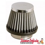 Air Filter (Chrome, Cone, Tapered) (42mm) (Vespa & Lambretta)