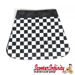 Mudflap Black & White Check Chequered (Universal Fitment)