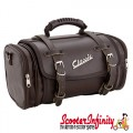 Case Top Box / Roll Bag Classic SIP Style - VESPA PX GTS/GT/GTV/LX LAMBRETTA (FITS TO ANY CARRIER) (10L) (Brown Faux Leather)