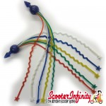 Handlebar End Streamers (Tassels) (Multicolour Starred Ends 180mm) (Universal Fitment)