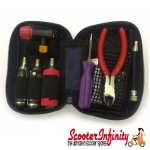 Tubeless Tyre Repair Kit - With Tools, 3 Gas Canisters & Case (Classic Vespa & Lambretta, Vespa GTS Models, Gliera Models)