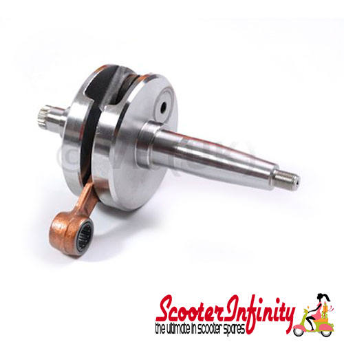 Crankshaft MAZZUCCHELLI (stroke 58mm, conrod 107mm,  pin 16mm, cone large 25mm) (Lambretta DL, GP)