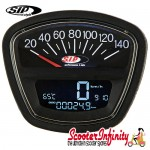 SIP Digital Speedo / Rev Counter *NEW V2.0* (Black Face) (Lambretta DL, GP, LI, SX, TV)