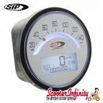 SIP Digital Speedo / Rev Counter *NEW V2.0* (White Face) (Lambretta LI 125/150 1°/2°/TV 175 1°)