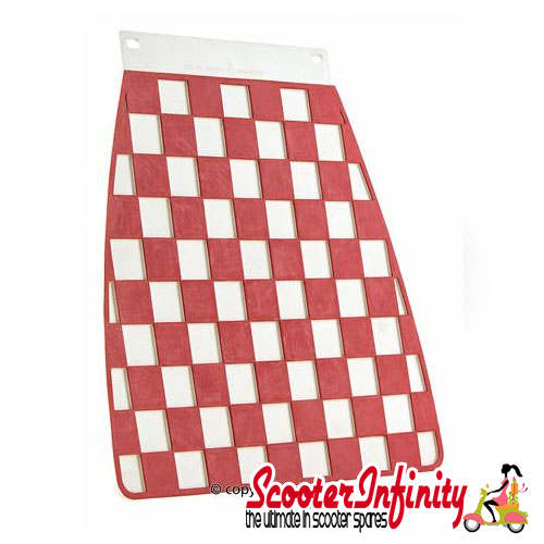 Mudflap Red Chequered / Check (Universal Fitment)