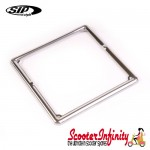 Number Plate Surround (Stainless Steel) (6.5 Inch Square) (Universal Fitting) (Vespa, Lambretta)