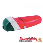 Seat Super Corsa (Italian Colours - Green White Red) (Vespa P, PX, T5 Classic)