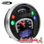 SIP Digital Speedo / Rev Counter *NEW V2.0* (Black Face) (Vespa PX/MY/T5 Classic)