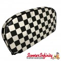 Backrest Pad (Black White Check Chequered) (Cuppini)
