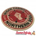 Badge Sticker Domed - Northern Soul Wigan Casino (75mm, 75mm)