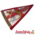 Flag Penant St George (Red Trim) (With Eye Holes, for Whip Aerial)
