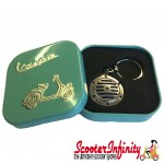 Key ring chain - Vespa Horn (Blue)