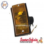 Indicator Front Left PIAGGIO SIEM (yellow amber orange, w/o bulbs) (Vespa PX80-200/PE/Lusso/T5)