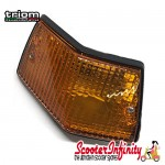Indicator Rear Left PIAGGIO TRIOM (yellow amber orange, w/o bulbs) (Vespa PX80-200/PE/Lusso/T5)