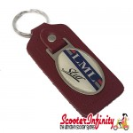 Key ring chain - LML Star (Red, Oval)