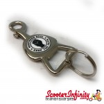 "Key ring chain - Northern Soul ""Keep The Faith"" Bottle Opener V2 (Silver)"