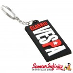 Key ring chain - Classic Vespa (Rubber, 60mm x 30mm) (Vespa Rally, PX, PK, T5, Sprint, Super)