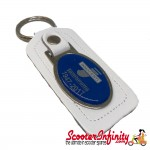Key ring chain - Lambretta Innocenti 1947-2012 (Silver/Blue, White)