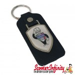 Key ring chain - Lambretta Service Agent No. 2 (Black, Shield)