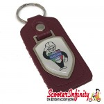 Key ring chain - Lambretta Service Agent No. 2 (Red, Shield)