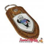 Key ring chain - Lambretta Service Agent No. 2 (Retro Leather)
